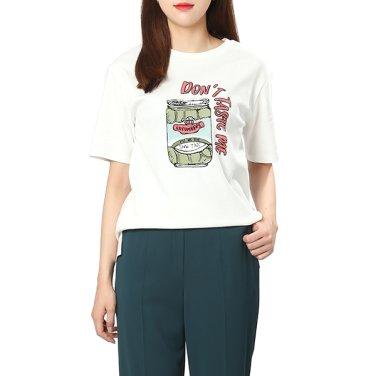 레터링 반팔 티셔츠(OW8ME304)
