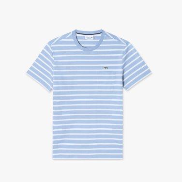 [엘롯데] 남성 스트라이프 포켓 반팔 라운드 티셔츠 LCST TH261E-19BAEY