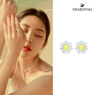 [스와로브스키] Sunshine 로듐 이어링 5459591