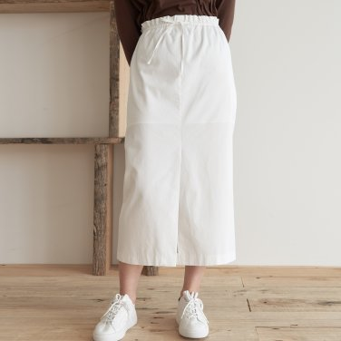 19AU COTTON STRING SKIRT (WHITE)