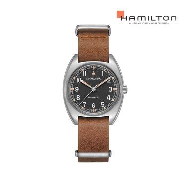 H76419531 카키 파일럿 파이오니어 메커니컬 소가죽 남성 시계 (W10 복각 워치)