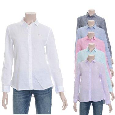 여성 린넨혼방 베이직 긴소매 셔츠 TUMT2HCE03D0