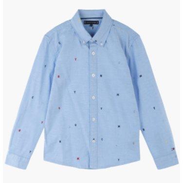 면혼방 자수 긴소매 셔츠(T41J7HSH055BT1)