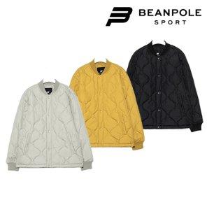 공용 베이지 퀼팅 패딩 MA-1 재킷 (BO0139D01)