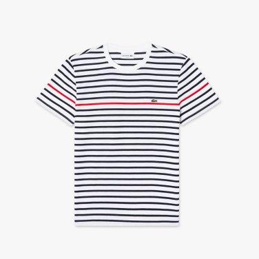 [엘롯데] 남성 스트라이프 반팔 라운드 티셔츠 LCST TH7015-19BA10