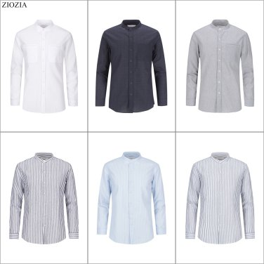 지오지아 차이나카라 캐주얼 셔츠 6종택1