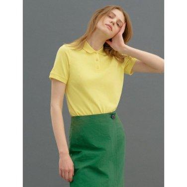 [Online Exclusive] 옐로우 베이직 로고 프린트 피케 티셔츠 (BF9342N07E)