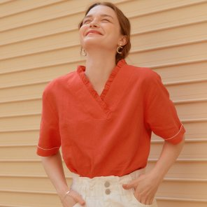 COLOR SLEEVE SHIRTS_RED