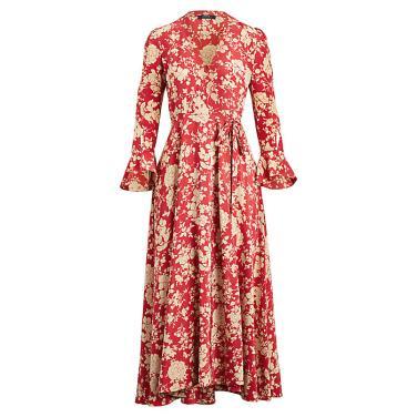 폴로 랄프 로렌 플로랄 프린트 랩 드레스(WMPODRSN6810129D74)