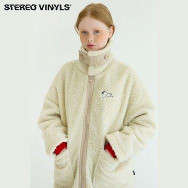 [스테레오바이널즈]공용_Snoopy Boa Short Jacket_Beige(SVJP8D201)