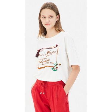 컬러 테슬 자수 티셔츠 BATS10941