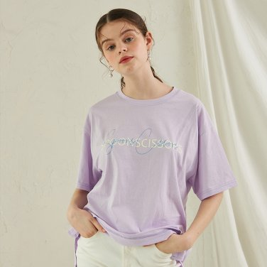 Scissors Sigh T-Shirt _ Light Purple
