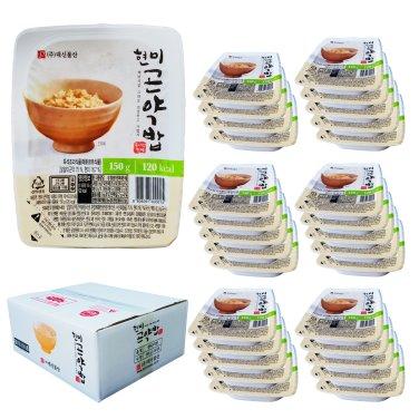밥맛은 그대로 한끼 120kca 현미 곤약밥(150g*30팩) / 무료배송