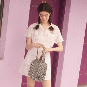 (OP-19335) EYELET LACE ONE-PIECE WHITE