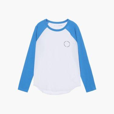 캐쥬얼 한 무드의 나그랑 소매 배색 티셔츠(DW1J3TTS577U)
