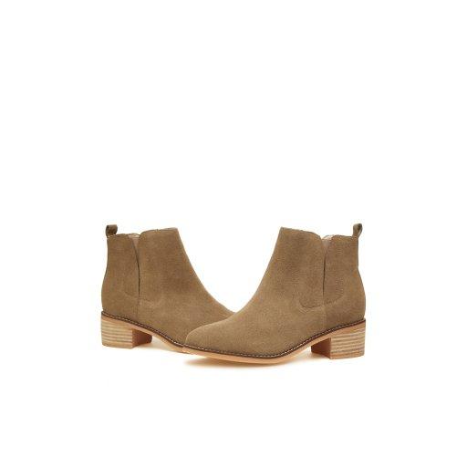 Suede ankle boots(beige) DG3CX560BEE-EL