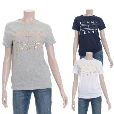 여성 코튼 저지 로고 프린팅 반소매 티셔츠 TUMT1KOE47D0