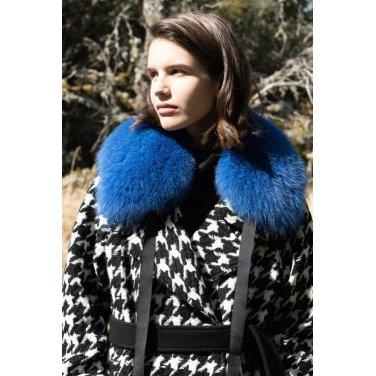 [아바몰리] 0010 Trisha Saga Fox Fur Shawl_BLUE