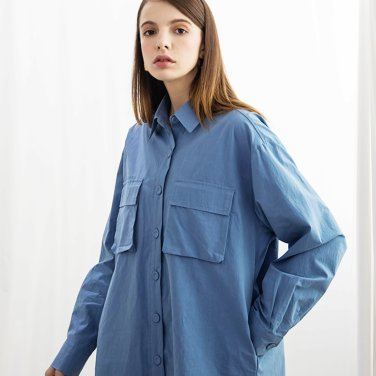 Pocket Washing Shirts Blue(2018FWST320_01)