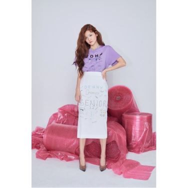 Denny Lettering Skirts(FA19PSSK001)