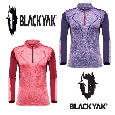 블랙야크 여성 기능성 짚업 긴팔티셔츠 M캐틀티셔츠 1BYTSF8509
