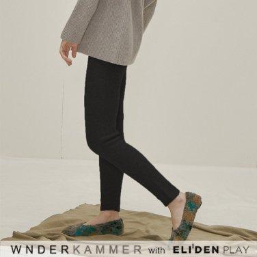 [분더캄머:WNDERKAMMER] Wool Sweater Leggings_Black (WK9F0-WSPT040)