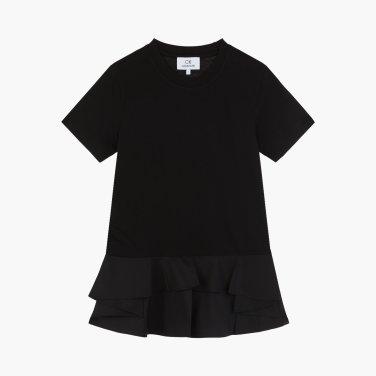 밑단 러플 디테일 티셔츠 (VW1J7TTO107E)