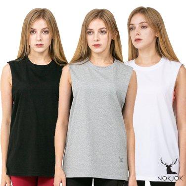 녹족_요가복 필라테스복 브리즈 민소매 나시 티셔츠 3종