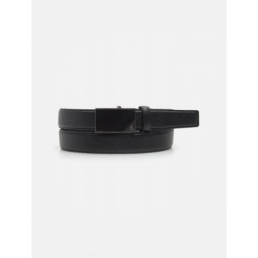 삼각 장식 흑착 자동 벨트 - Black (BE0182T345)