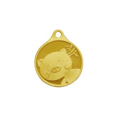 돼지띠 목걸이 메달 3.75g
