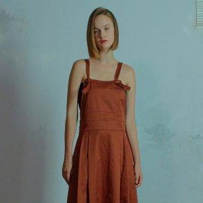 Suspender dress 002 Brown