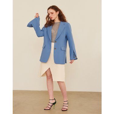 Button Jacket - Blue