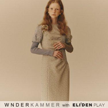 [분더캄머:WNDERKAMMER] Petite Floral Jacquard Dress_Light Khaki (WK9F0-PJOP050)