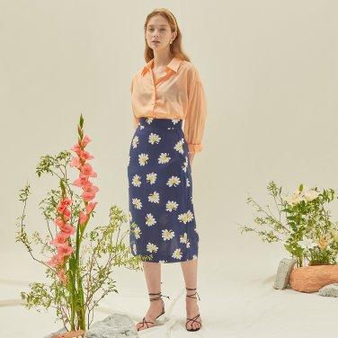 M Slit Long Skirt_NV