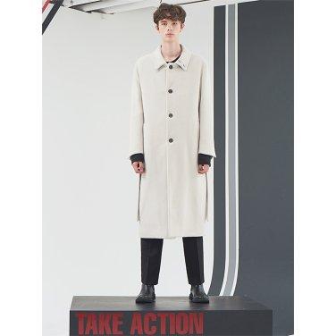 [홀리넘버7] Ivory Overfit Belted Long Coat