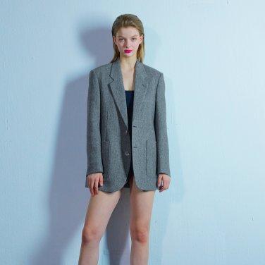 Custom button jacket 008 Black