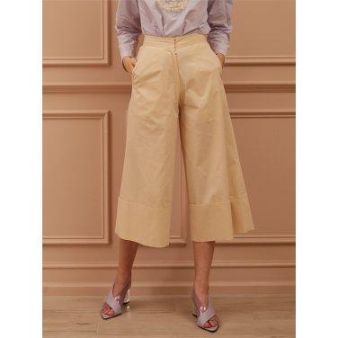 [까이에] Cuffed Wide-Leg Culottes