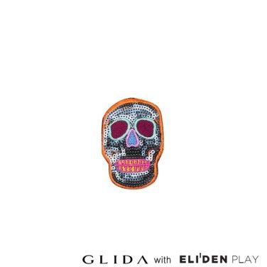 [그리다] GLIDA PATCH-Orange Skull (PT-SO)