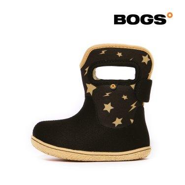 [보그스] 19FW 베이비부츠 - 스타 블랙 겨울 아기 방한부츠