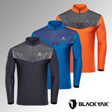 블랙야크 남성 간절 반짚업 M레인지티셔츠1