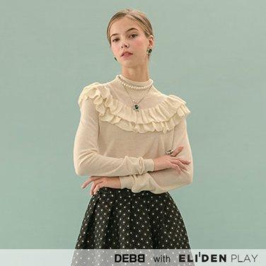 [뎁] 터틀넥 러플 스웨터 (2color) (DBCMK2001M)
