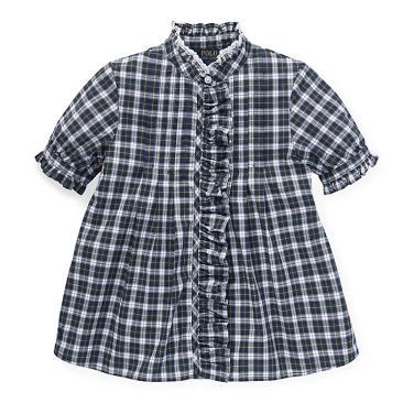 폴로 랄프 로렌 베이비 플래드 러플 셔츠(CWPOWOVON810061B90)
