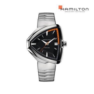 H24551131 벤추라 엘비스 80 쿼츠 블랙 메탈 남성 시계