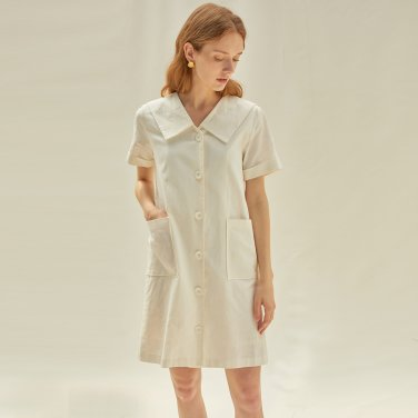 M V Neck Mini Dress_IV