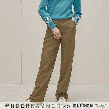 [분더캄머:WNDERKAMMER] One Sidetuck Trousers_Khaki (WK9F9-OTPT030)