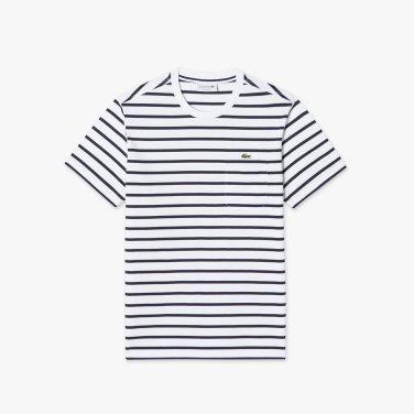 [엘롯데] 남성 스트라이프 포켓 반팔 라운드 티셔츠 LCST TH261E-19B001
