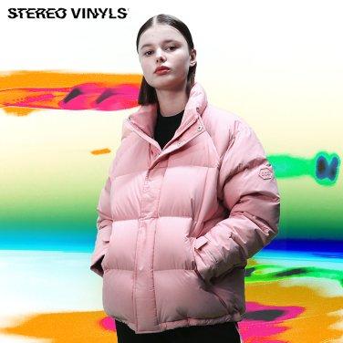 [스테레오바이널즈]공용_Stereo Basic Raglan Down Parka_Pink(SVJP8D004PN)