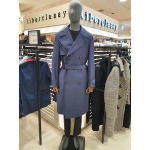 리버클래시(DJ) 블루 고급 울혼방 클래식 트렌치 코트 LGS20492