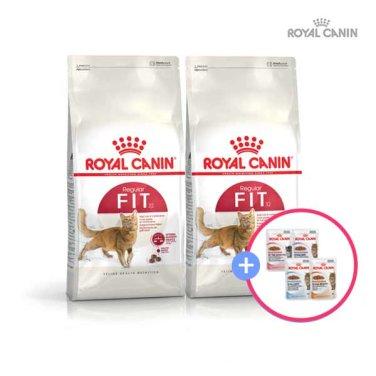로얄캐닌 휘트(FIT)4kg * 2팩 +습식파우치 증정