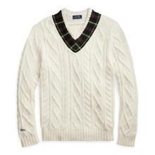 폴로 랄프 로렌 남성 플래드 트림 크리켓 스웨터(MNPOSWE16810434C40)